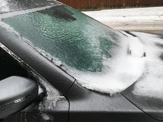 Broadstone, UK: Rescued from spending a night in a frozen car!