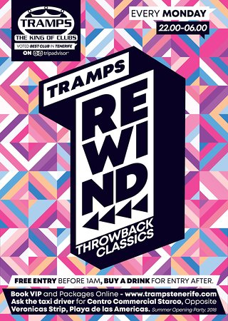 Tramps The King Of Clubs: Tenerife 2018