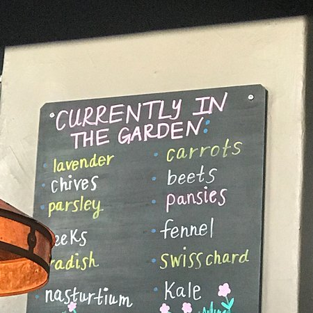 Maynards Market & Kitchen: Love that Maynard's uses veggies from their own garden that lies just outside the window of the