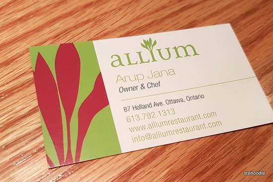 Business card picture of allium ottawa tripadvisor allium business card reheart Image collections