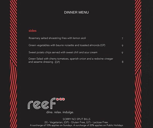 reef bar grill new autumn dinner menu apr 2018