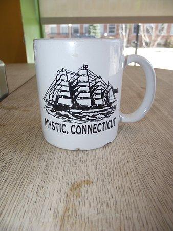 NH - NEWMARKET - THE BIG BEAN CAFE - COFFEE MUG WITH TALL SHIP