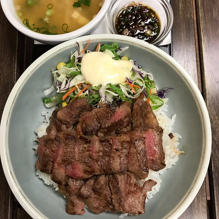 Burger and Cafe Joy : Special Rice Meal (AAA Striploin)