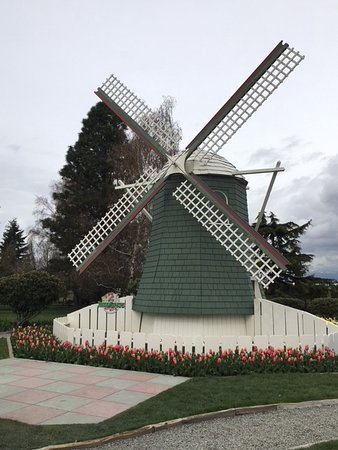 Perfect Roozengaarde Display Garden: Windmill In The Large Garden Area.