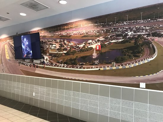 Homestead Miami Speedway: Picture in side near gift store