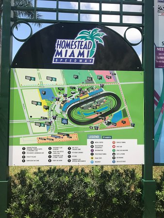 Homestead Miami Speedway: Map of the Speedway Complex