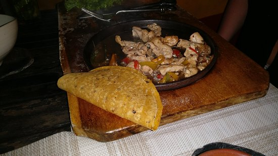 Gluten free alternative, corn fajita with chicken and spices
