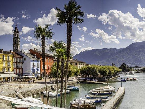 Lake Maggiore, Switzerland: Ascona, Piazza G. Motta