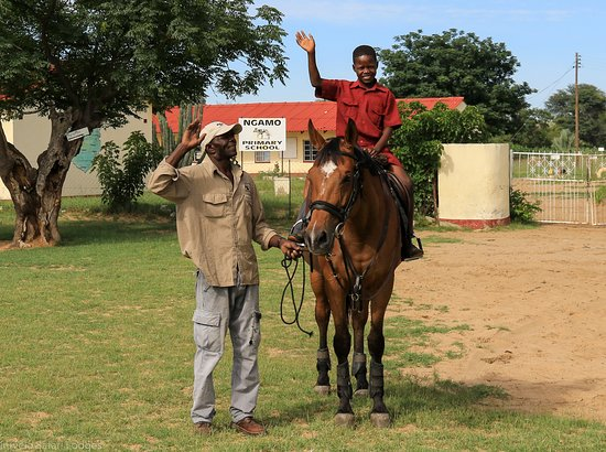 Hwange, Zimbabwe: Ngamo Primary School children horse ride