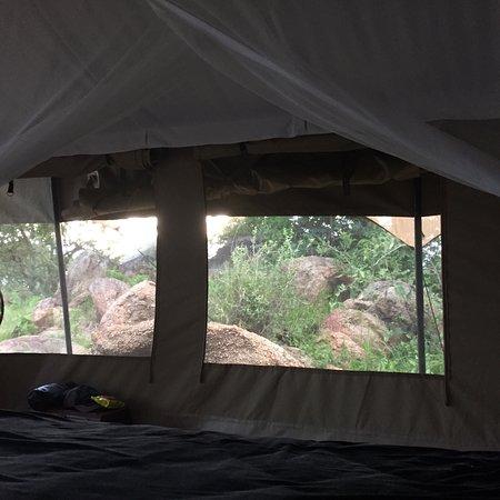 Serengeti Migration Camp: על רקע נוף קסום של הסרנגטי ובמרחק קצר מצוקי האריות נמצא מחנה אוהלים שמחבר את האורח ישירות אל הטב