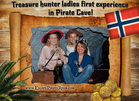 Pirate Cave: The ladies arrrrgh fearless sailors, in the end they even scared the pirates away!
