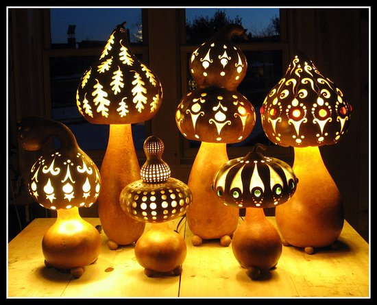 Ithaca, Estado de Nueva York: Homegrown organic lamps!