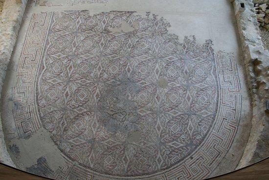 Plassac, Frankrike: The mosaics of the apsidal hall