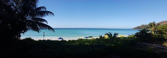 Acajou Beach Resort: panoramic photo from our balcony