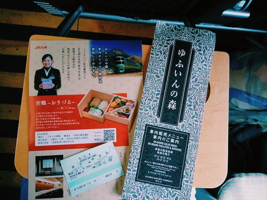 Limited Express Yufuin no Mori: Menu designed for the train!