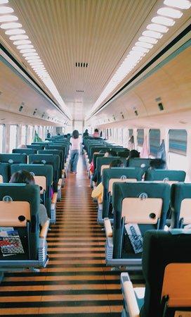 Kyushu-Okinawa, Japan: train interior