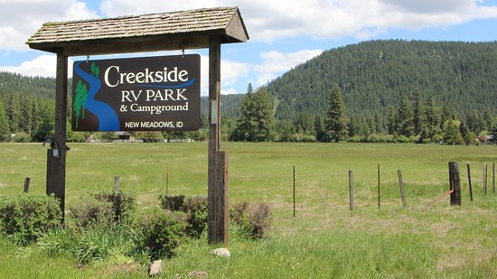 New Meadows, ID: Creekside RV Park Entrance