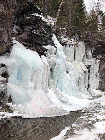 Columbia Falls, MT: Colored ice falls