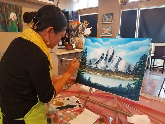 Check Out Our Bob Ross Oil Classes Taught By A Certified Bob Ross