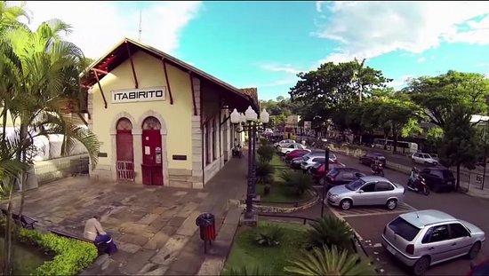 Itabirito, MG: Foto aérea do Complexo Turístico da Estação