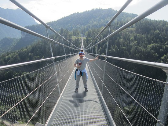 Reutte, Austria: In the middle of the world logest tibetan style pedestrian bridge
