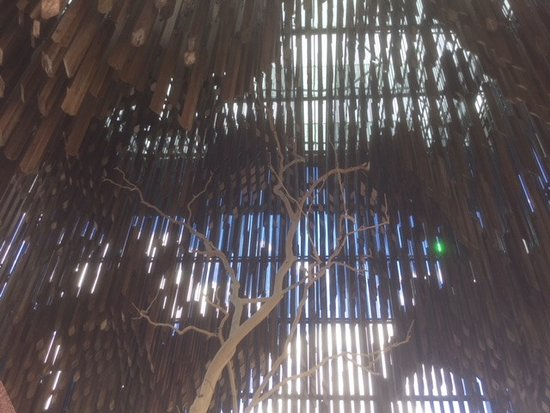 """Barcaldine, Australia: Apparently when the wind blows all the hard wood """"sticks"""" knock together, as would a wind chime"""