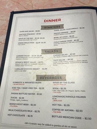 Pantry Restaurant Menu Santa Fe