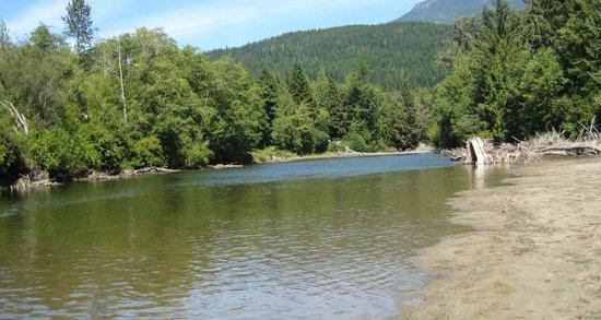 Sayward, Kanada: Property has direct river access for lazing, swimming, fishing or kayaking.