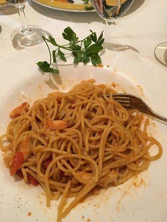 Watermael-Boitsfort, Βέλγιο: Spaghetti mit Hummer