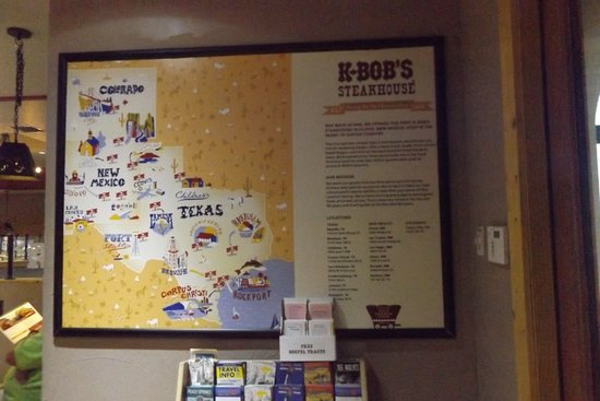 Map 9f Texas.Texas Map Of K Bob S Picture Of K Bob S Steakhouse