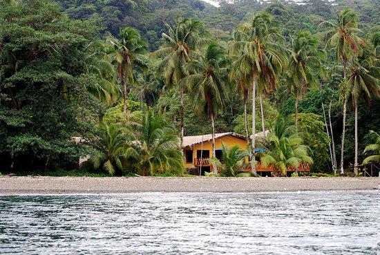 La Gorgona, Colombia: Vista del Restaurante desde el Mar