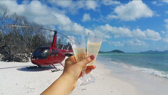 Hamilton Island Air: Champagne on Whitehaven