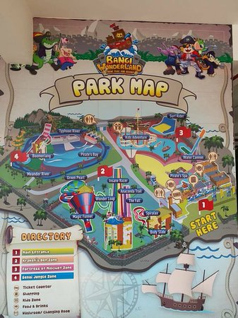 Park Map - Picture of Bangi Wonderland Theme Park & Resort, Kajang ...