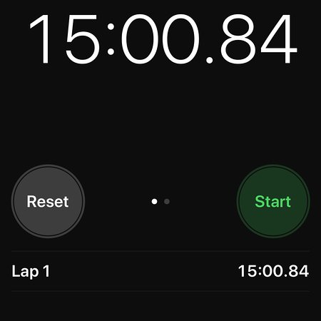 started timer after 10 minutes of no service finally left