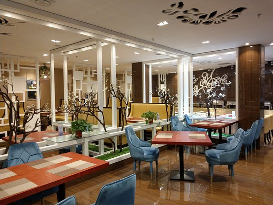 Jiamusi, China: 飯店一樓的早餐餐廳