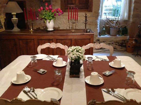Un Patio en Luberon : petit déjeuner