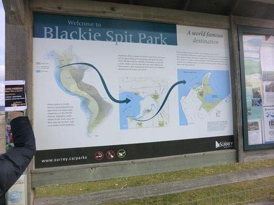 Surrey, Kanada: 公園の位置の説明板
