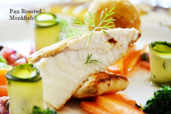 Glandore Bistro: Pan Roasted Monk Fish Fresh from the Local Trawlers