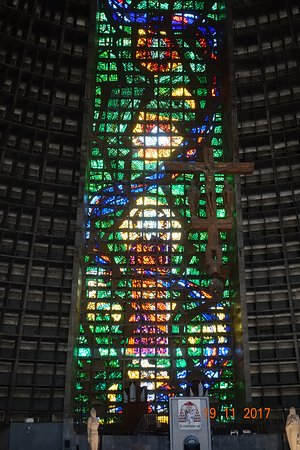 The Metropolitan Cathedral of Saint Sebastian : one of the walls..