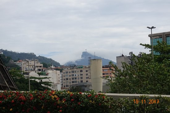 The Metropolitan Cathedral of Saint Sebastian : view of Rio from the cathedral site