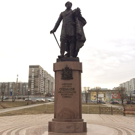 Monument to the First Governor of Yenisei Provincw Aleksandr Stepanov