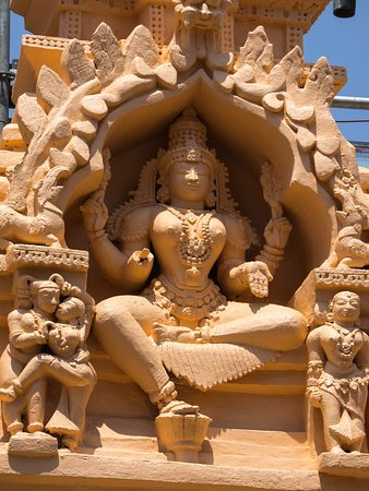Sravanabelagola, India: Stone carvings from the temple on top
