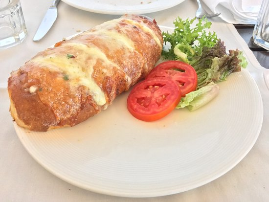 Garlic bread with cheese.