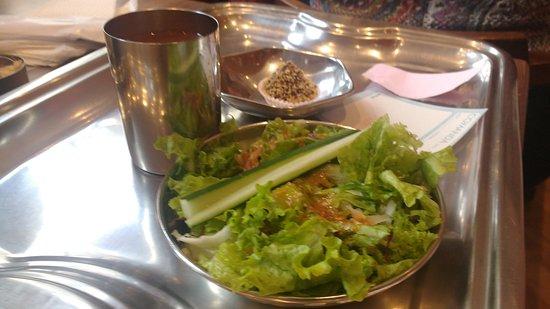 Gulab Hari: entrada , copo de suco