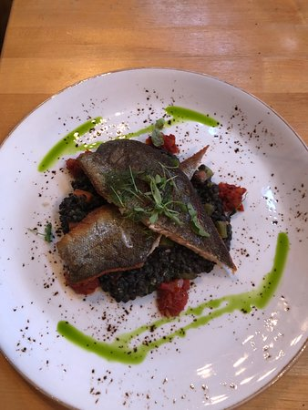 The Market Place Restaurant: Trout on Quinoa...My husband loved it.
