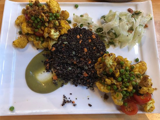 The Market Place Restaurant: Roasted Indian Cauliflower on quinoa-out of my comfort zone and was EXCELLENT!!