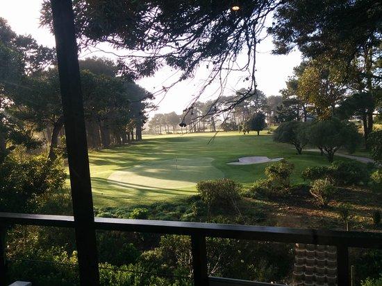Hermanus Lodge on the Green: Panorama dalla sala colazione