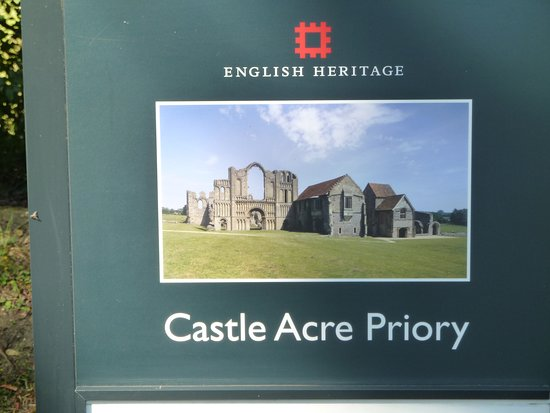 Castle Acre, UK: Information panel