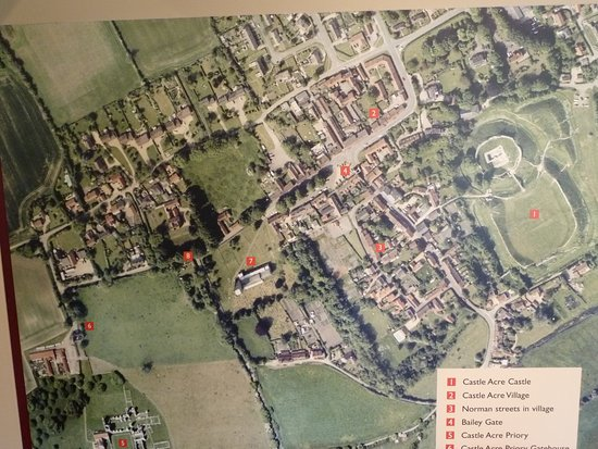 Aerial photograph of Castle Acre