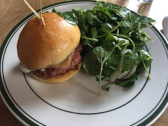 Jesup Hall Happy Hours Duckling Burger at 90 Post Rd E, Westport CT